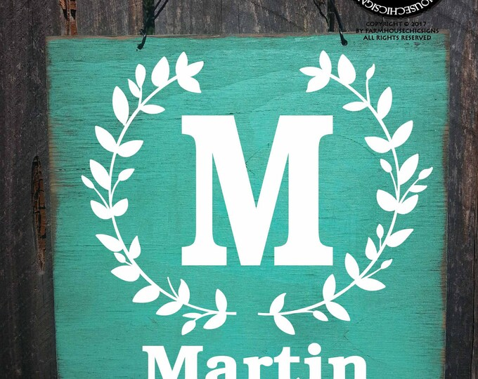 monogram sign, monogram gift, personalized name sign, est sign, family established sign, established sign, family name sign