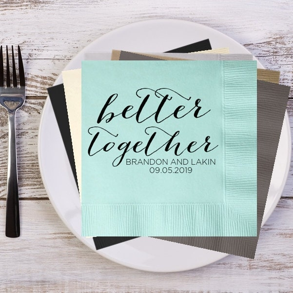 Better Together Rustic Names And Date Personalized Wedding