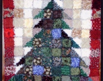 Oh Christmas Tree Rag Quilt Pattern By Karla Alexander