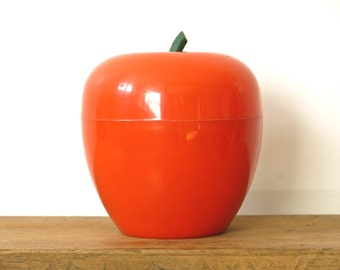 Apple orange ice cube tray