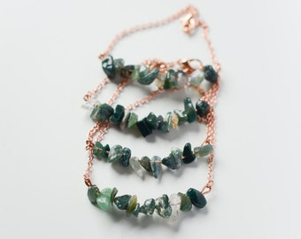 Bracelet with Moss Agate