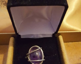 Size 7 amethyst wire wrap ring