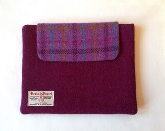 Harris tweed, tablet cover, ipad cover, gift, free postage