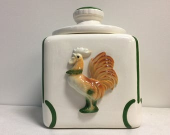 Vintage Ceramic Rooster Cookie Jar - Sierra Vista Ceramics California 1940's-1950's