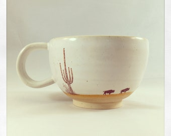 Wandering Buffalo- tea cup