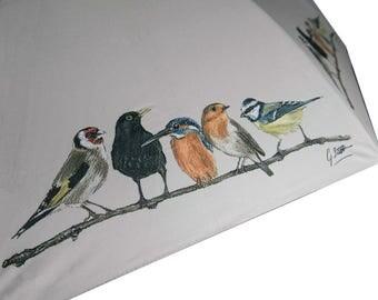 Birds In Row Country Walking Umbrella