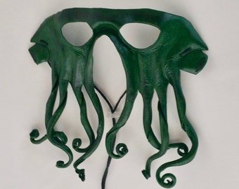 Leather Cthulhu Inspired Mask