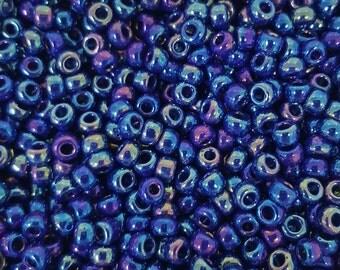 Miyuki 6/0 Japanese Seed Beads - Dark Blue Iris 6-9414R - 20g
