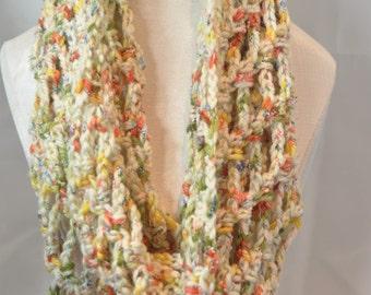 Crochet Infinity scarf, crochet cowl, crochet scarf