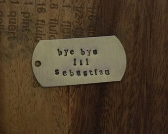 "Parks and Recreation ""Bye bye Lil Sebastian"" Keychain"