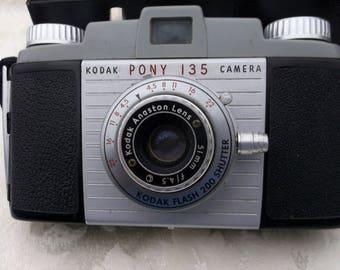 Vintage Kodak Pony 135 Camera, Original Box, Made in the 50s