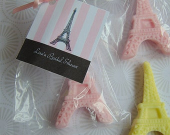 Eiffel Tower Soap sets of 10, 15, 20  favors wedding, bridal, baby, party favors