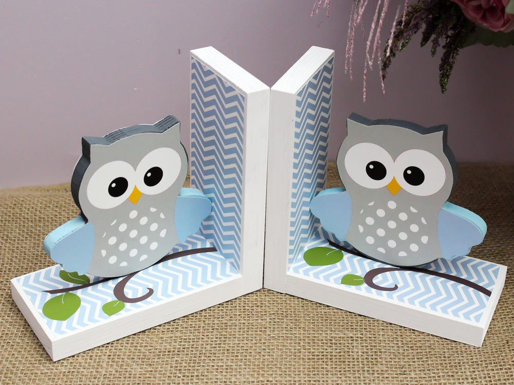 Baby owl bookends owl nursery decor baby shower gift for Baby owl decoration