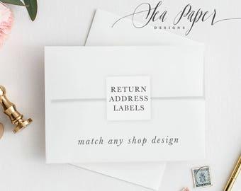 Return Address Labels Or Seals, Custom Printed Or Printable (digital) - Match Any Design - Square Or Circle - Sea Paper Designs