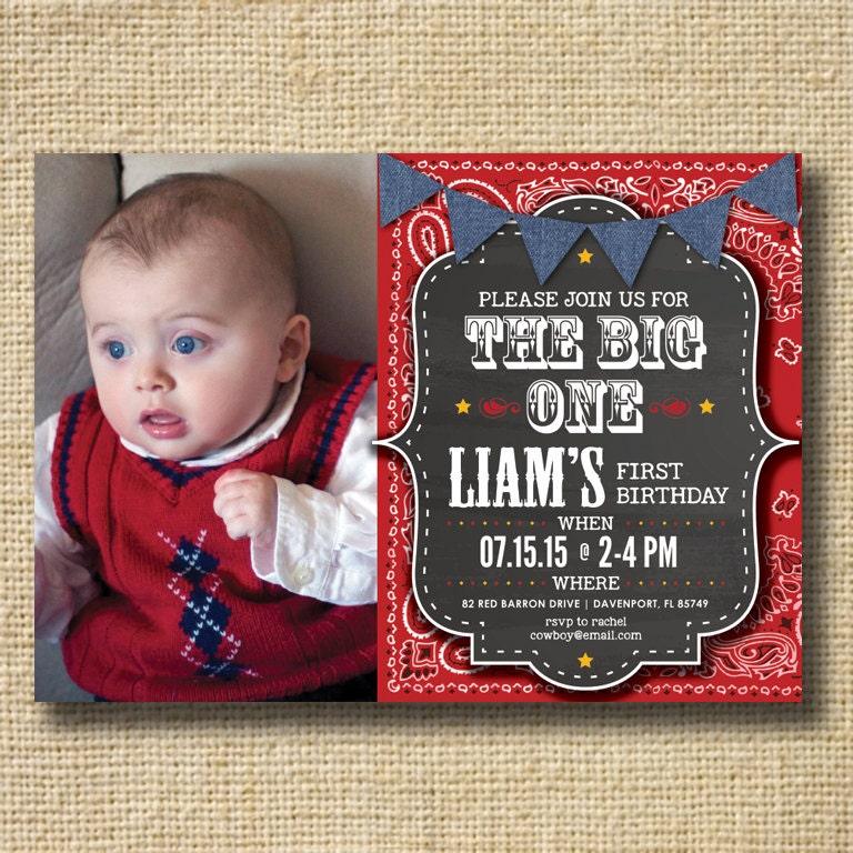 Cowboy 1st birthday – Cowboy First Birthday Invitations