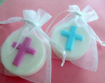 Religious soap favors christening soap favor holy communion soap favor confirmation favor baptism favor bath and beauty cross soap set of 20