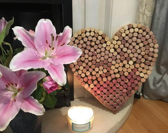 Wine Cork Heart gift