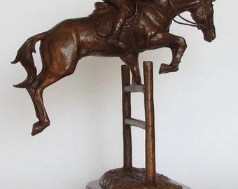 """Bronze sculpture of Jumping Horse 11.8"""" - 9.84"""""""