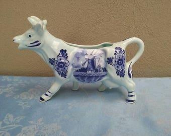 Cow Creamer Blue & White