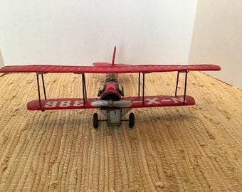 1930s Tin Biplane Friction Toy