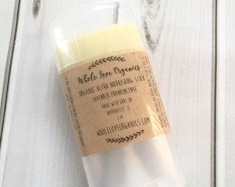 Organic Ultra Nourishing Lotion Stick - Vegan Lotion - Non Toxic - Solid Lotion- Organic Skin Care - Essential Oils