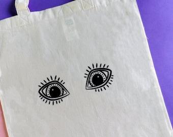 Cute Market Bag - Eye Print