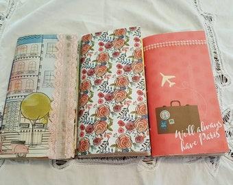 Set of 3 Midori Traveller's Notebook Refills, Junk journal, diary, Midori insert.