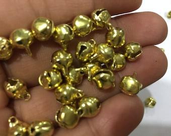 100 pieces 5mm jingle bells,Brass bells, jingle bells,6mmbells, Small Bells,Craft Bells, Christmas Bells,