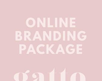 Custom ONLINE BRANDING Package - For Business and Creatives Websites - Business Logo Design and Branding Kit - Ecommerce Website Branding