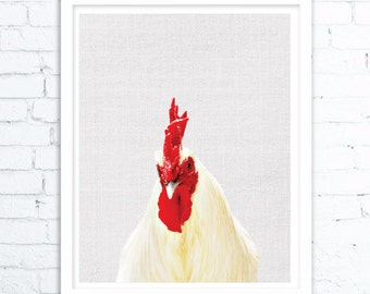 Farmhouse Decor,Rooster Print, Rooster Home Decor, Farm Prints, Rooster Photo, Minimalist Poster, Printable Art, Digital Printable Download