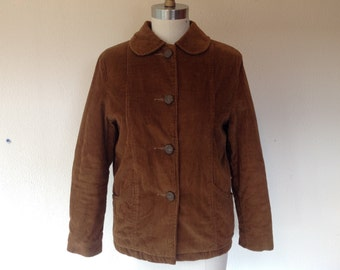 1970s Brown corduroy jacket with Peter pan collar