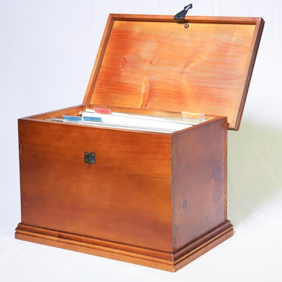 wooden file box wooden file box lockable hinged lid hang files and 29454