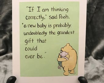 Encouragement card winnie the pooh greeting card surgery baby expecting cards classic winnie the pooh new baby expecting a baby adoption baby announcement baby m4hsunfo