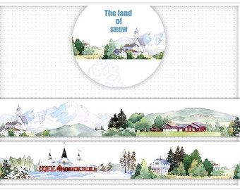 The land of snow Washi Tape  /Japanese Washi Tape / Deco tape TZ1586