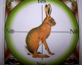 Hare Scrying Mat, Dowsing wiccan Magic Divination, fairy gift