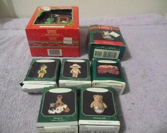 1991 Santa's Best Christmas Ornament + 6 Keepsakes Ornaments