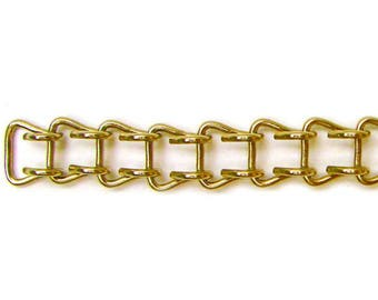 Brass Ladder Chain-Brass Chain-Ladder Chain-Chain-Stained Glass Supply