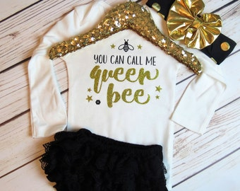 Queen Bee | Ready to Ship | Clothing set | Headband | Diaper Cover - Headbands - Baby girl clothing - girl clothing - outfits