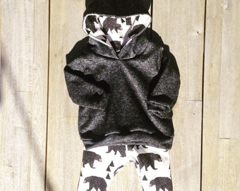 Baby bear leggings and hoodie