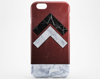 Red & White Marble iPhone Case Geometric iPhone 7 Case iPhone 7 Plus Arrows iPhone 6 Case iPhone 5 iPhone 6 Plus iPod Marble Galaxy S7 Case
