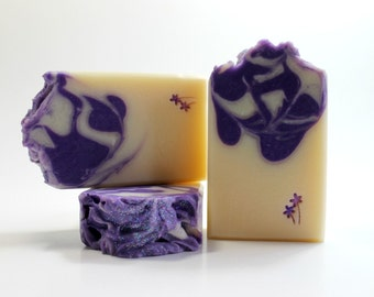 Lilac Soap, Cold Process Soap, Handmade Soap for Her, Soap with Shea Butter, Bath and Body Soap, Artisan Soap, Feminine Soap, Purple Soap