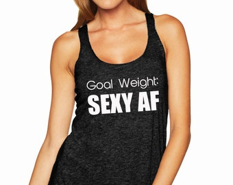Goal Weight Racerback Tank Top
