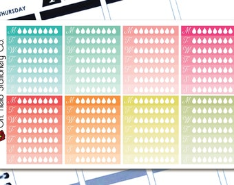 Planner Stickers Weekly Hydrate Trackers - Erin Condren Life Planners - I3