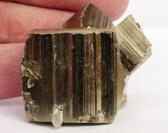 Beautiful cube golden Pyrite, Crystal, Minerals from Bulgaria