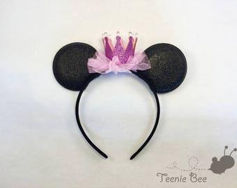 Disney Ears Headband - Disney Princess Ears - Disney Princess Headband - Baby Mickey Ears - Kids Minnie Ears - Kids Mickey Ears