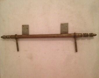 Vintage hinged Metal Cabinet + screw set of 6 Vintage