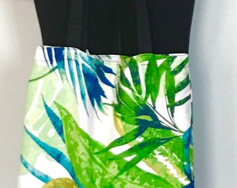 Tote bag - leafy green, perfect for arts & crafts