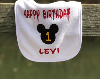 Mickey Mouse baby bibs