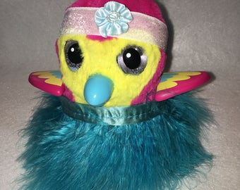"Blue Fluffy Feather Skirt and Headband Set For Your Hatchimal Hatchimals Perfect for your Easter ""Egg"""