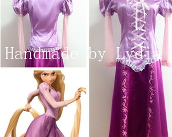 Handmade - Rapunzel Dress, Rapunzel Costume, Rapunzel Cosplay, Rapunzel Dress Adult/kid Available